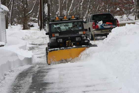 Jeep Wrangler Snow Plow >> 1993 Jeep Wrangler with Meyer snow plow.   Landscape ...