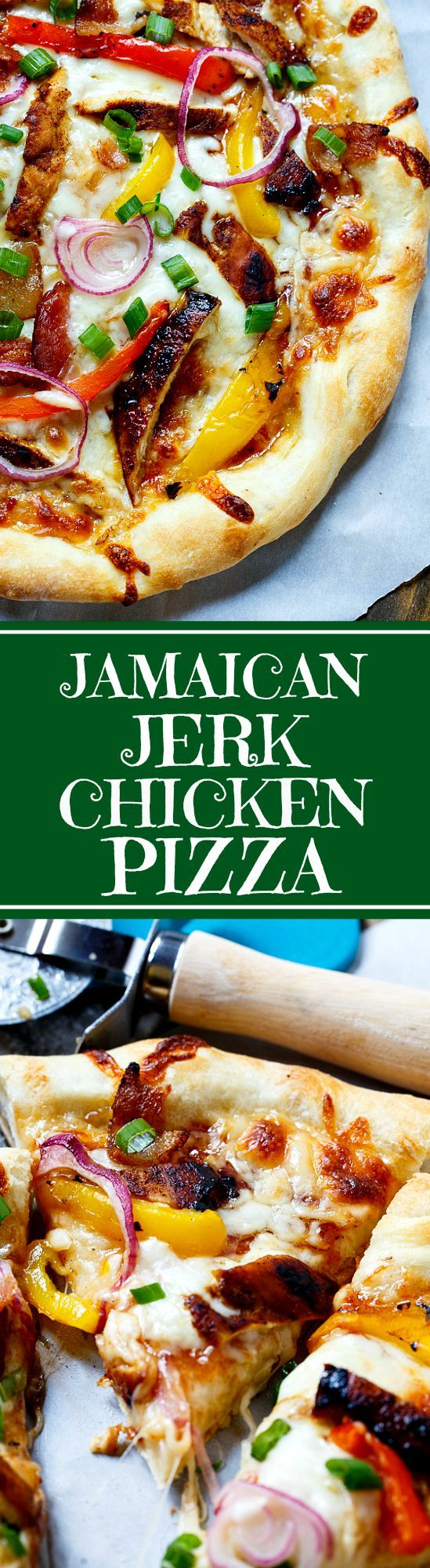 charming California Pizza Kitchen Pizza Size Inches #5: Jamaican Jerk Chicken Pizza | Recipe | Pizza, Sauces And Investing