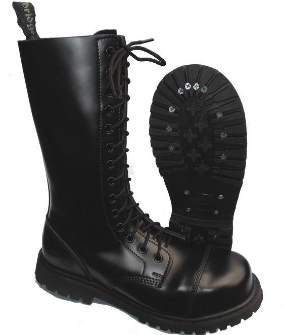 Knightsbridge Combat Boots UK: Amazon.co.uk: Shoes & Bags