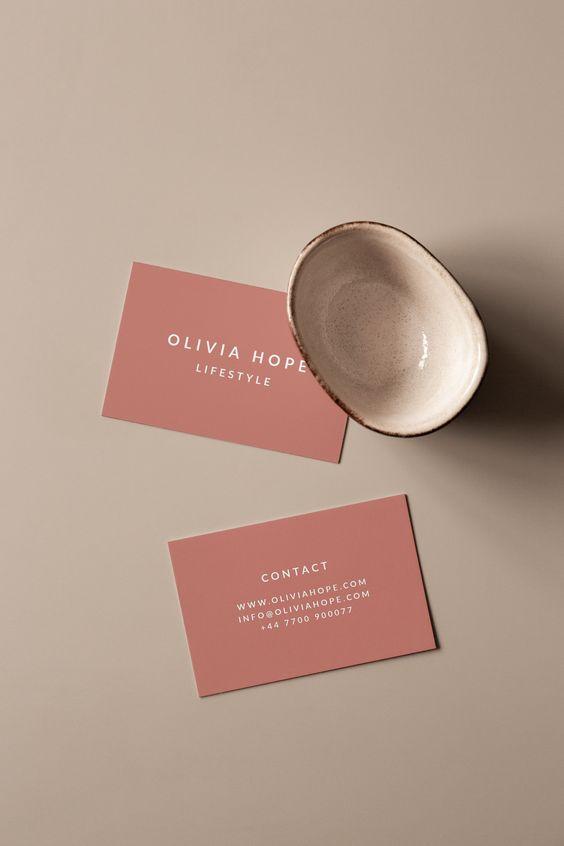 Olivia Business Card Template Makeup Business Cards Modern Business Cards Pink Business Card