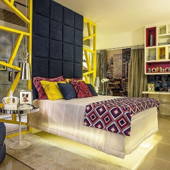 Inspiração pra começar a semana! #cores #moderno #iluminacao #interiores #suitefilha