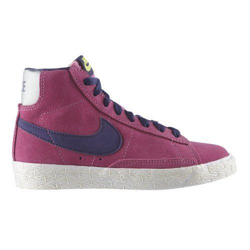 chaussettes trimestre Nike rouge - NIKE Blazer Mid Premium Suede Hi-Top Junior Girls Trainer - Pink ...