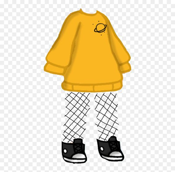 Browse And Download Planet Yellow Fishnet Gachalife Gachaclothes Freetoedit Gacha Life Fish Net Hd Png Download Fish Ne Yellow Outfit Fishnet Cute Outfits