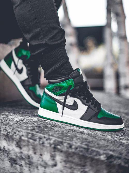 Nike Air Jordan 1 High Pine Green 2018 Bynokiibah Green