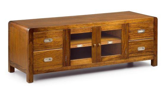 Mueble tv colonial flash 2 puertas - Mueble estilo colonial ...