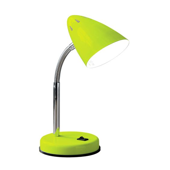 Lime Green Desk Lamp: Premier Housewares Lime Green Desk Lamp – 2501184 – Brighten up your home  with the lime,Lighting
