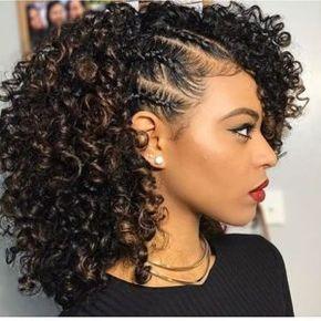 Natural Hairstyles For Medium Length Hair Natural Hairstyles Natural Hair Styles Cute Curly Hairstyles Medium Length Hair Styles
