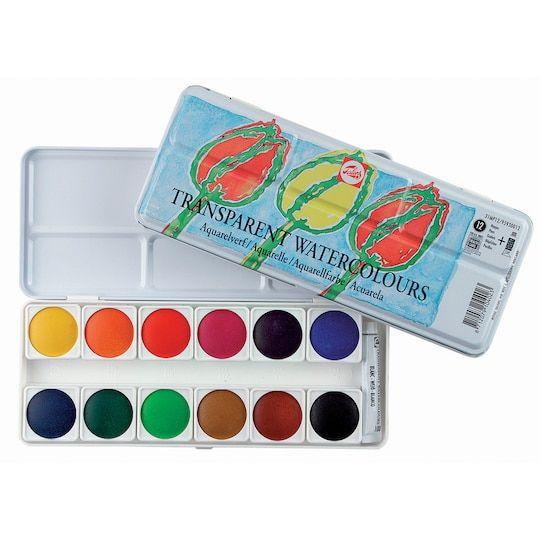 Royal Talens Transparent Watercolours 12 Color Set Royal Talens Color Set Acrylic Paint Set