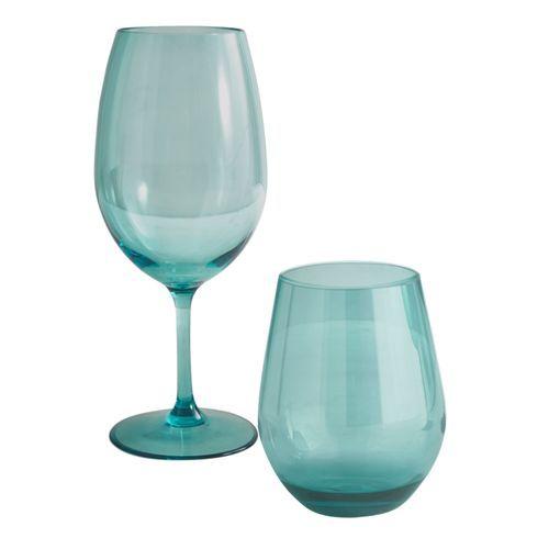 Clarity Turquoise Acrylic Stemware