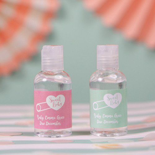 Personalized Baby Shower Hand Sanitizer Favors Hand Sanitizer