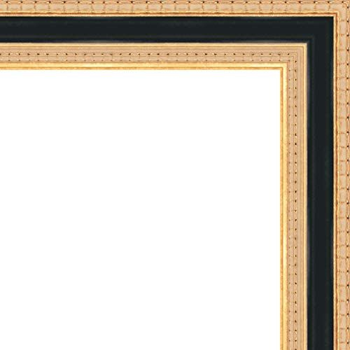 Veedaf 11x19 11 X 19 Traditional Gold With Black Solid Wood Frame With Uv Framer S Ac Frame Wood Frame Solid Wood