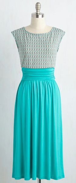 cute little summer dress in teal