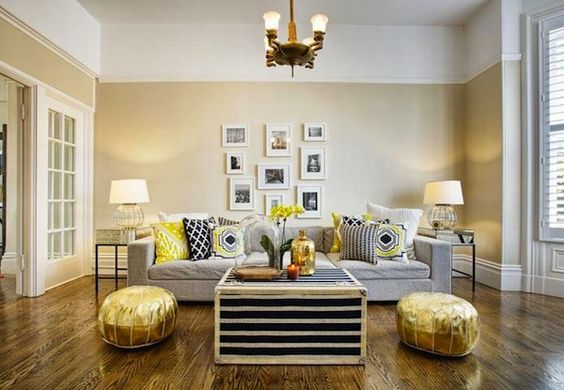 Obsessed with this bright and cheerful living room!
