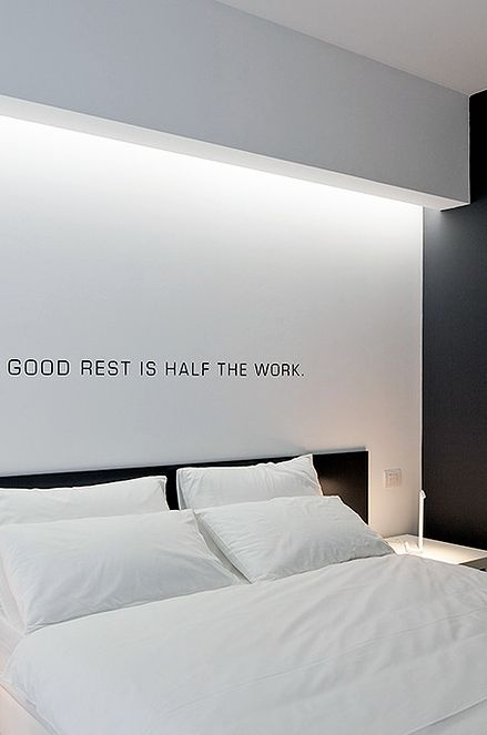 good rest is half of the work  Indirect lighting, Bed'n Design hotel by Giuseppe Merendino _