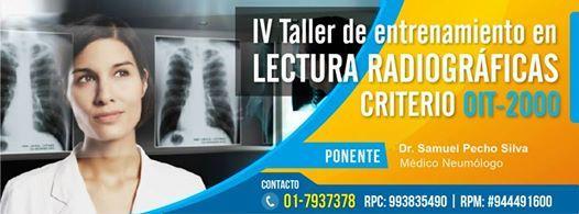 Invitamos al Taller en Lectura Radiográficas criterio OIT- 2000.Día Sábado de Marzo 2000.201
