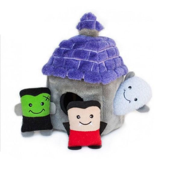 ZippyPaws Halloween Burrows Dog Toy - Haunted House