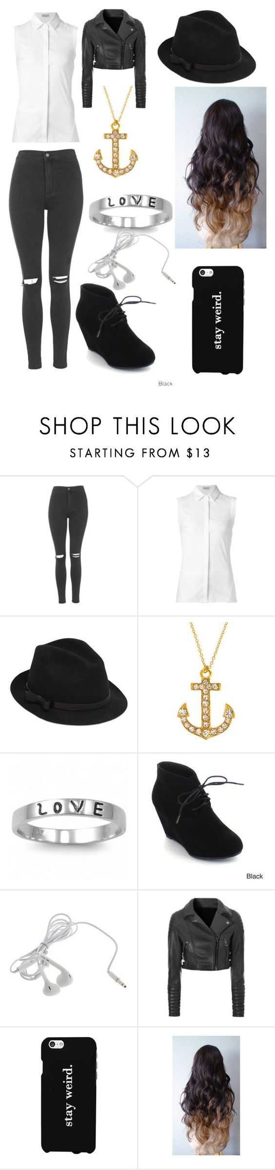 """""""My Outfit Today"""" by ducky0524 ❤ liked on Polyvore featuring Topshop, Brunello Cucinelli, RED Valentino, Fantasy Jewelry Box, ANNA, Glamorous, LG and Blonde + Blonde"""