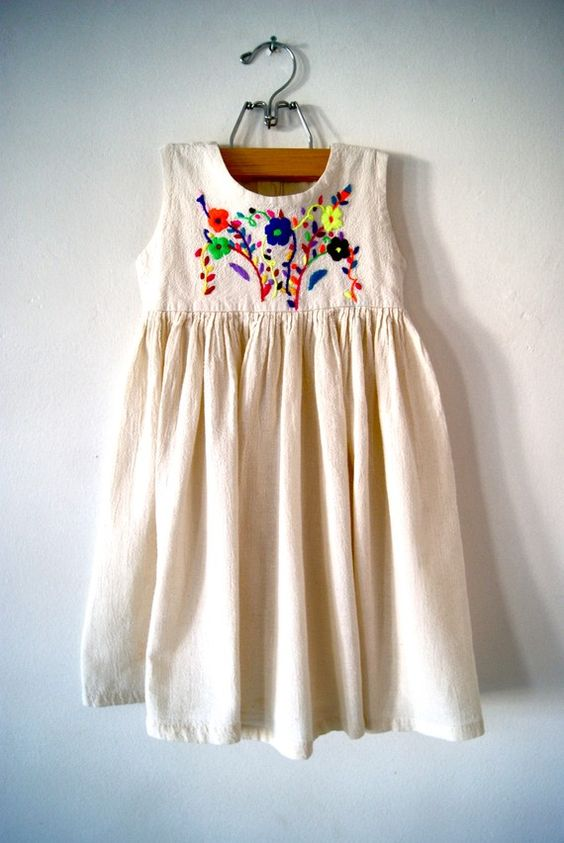 #shopsprung has an incredibly similar hand painted dress that's size 18mo.  Buy the dress and show us this pin and we'll give you an extra 10% off!: Babies Stuff, Baby Girl, Embroidered Dresses, Bohemian Girls, Bohemian Kids, Baby Dresses, Boho Kids Fashion