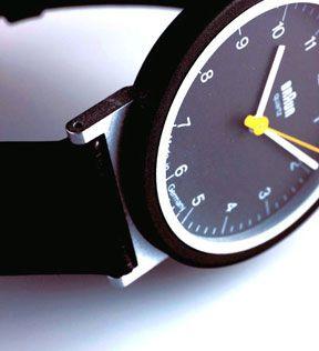 """Braun """"AW 10"""" wristwatch, 1989, Detail, Design: Dietrich Lubs, Photo: Koichi Okuwaki; Copyright: Museum für Angewandte Kunst Frankfurt"""