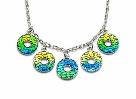Doughnut necklace by Resin8