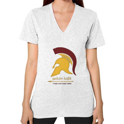 "SPARTAN ""Come and Take Them"" V-Neck (on woman)"