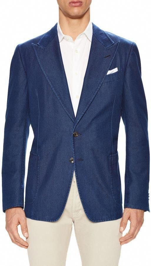 Tom Ford Men S Peak Lapel Denim Blazer Mensfashionsmart Mensfashionhipstershoes Hipster Mens Fashion Mens Fashion Smart Mens Fashion Edgy