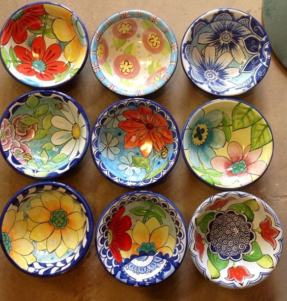 Damariscotta Pottery-eating bowls handmade and painted in our shop- Facebook: Damariscotta Pottery: