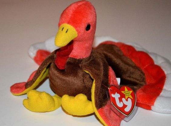 TY Beanie Babies Rare #Gobbler the #Turkey Mint MWMT Retired 1996 Tag Protected #Ty