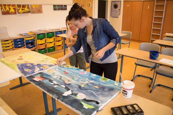 Ostseekinder malen ihr großes Bild   Schnappschüsse vom Malen mit den Ostseekindern (c) Frank Koebsch (7)