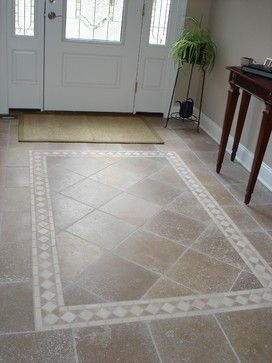 Tiled foyer traditional entry around the house for Entrance flooring ideas