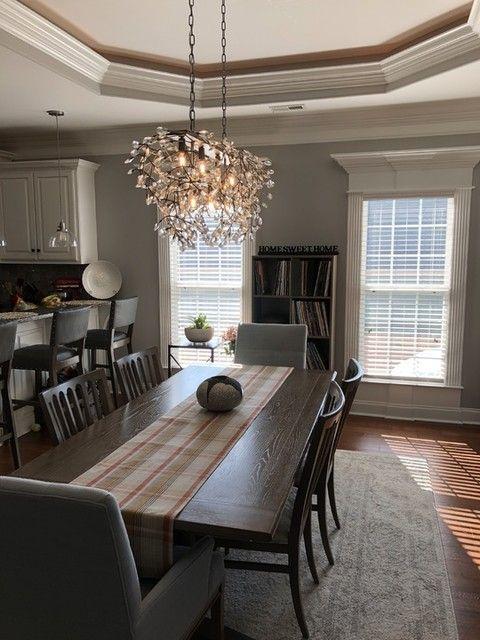 Bella Crystal Rectangular Chandelier In 2020 Dining Room Lighting Chandeliers