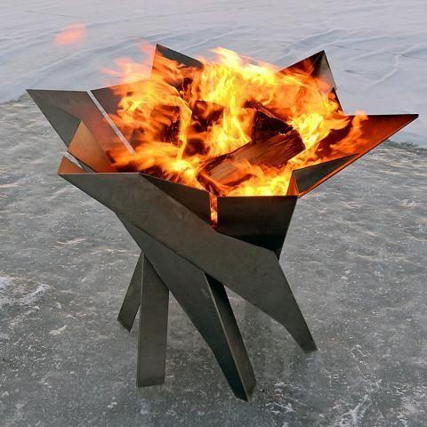 Cool Fire Pit In Garden Kostrishe Ulichnye Kaminy Ochag