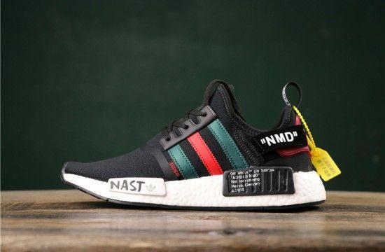 Free shipping \u003e adidas nmd r1 green and