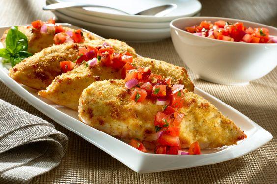Bruschetta chicken, Bruschetta and Chicken recipes on Pinterest