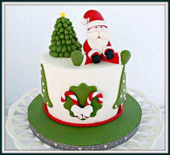 Cake Design Treviso : Christmas cakes, Christmas birthday party and Santa cake ...