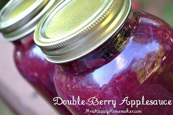 Double Berry Applesauce