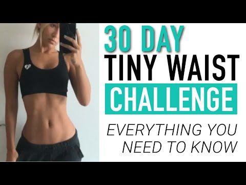 30 Day Tiny Waist Workout Challenge Schedule Equipment And More Youtube Tiny Waist Workout Waist Workout Challenge Tiny Waist