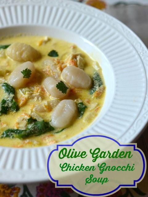 Olive garden chicken gnocchi soup recipe gardens Copycat olive garden chicken gnocchi soup