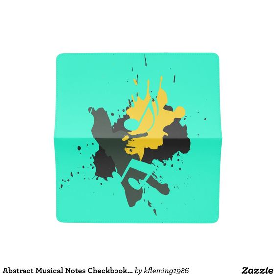 Abstract Musical Notes Checkbook Cover