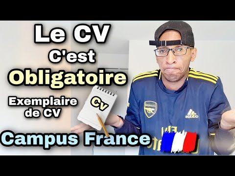 Campus France Voici Un Exemple De Cv A Mettre Sur Votre Compte Youtube In 2021