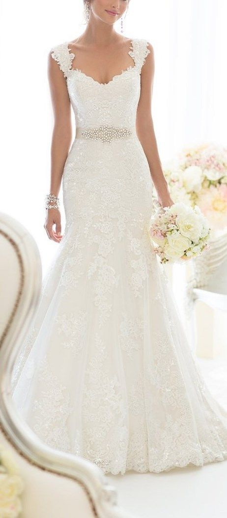 Elegant Off-Shoulder Crystal Lace Wedding Dress - Cute Dresses || More at http://www.cutedresses.co/product/elegant-off-shoulder-crystal-lace-wedding-dress/