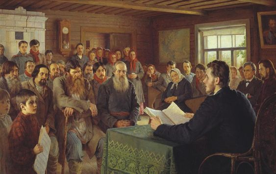 Sunday Reading At Country School ~ Artist at the Easel (Portrait of Konstantin Korovin) - Nikolay Bogdanov-Belsky - WikiArt.org