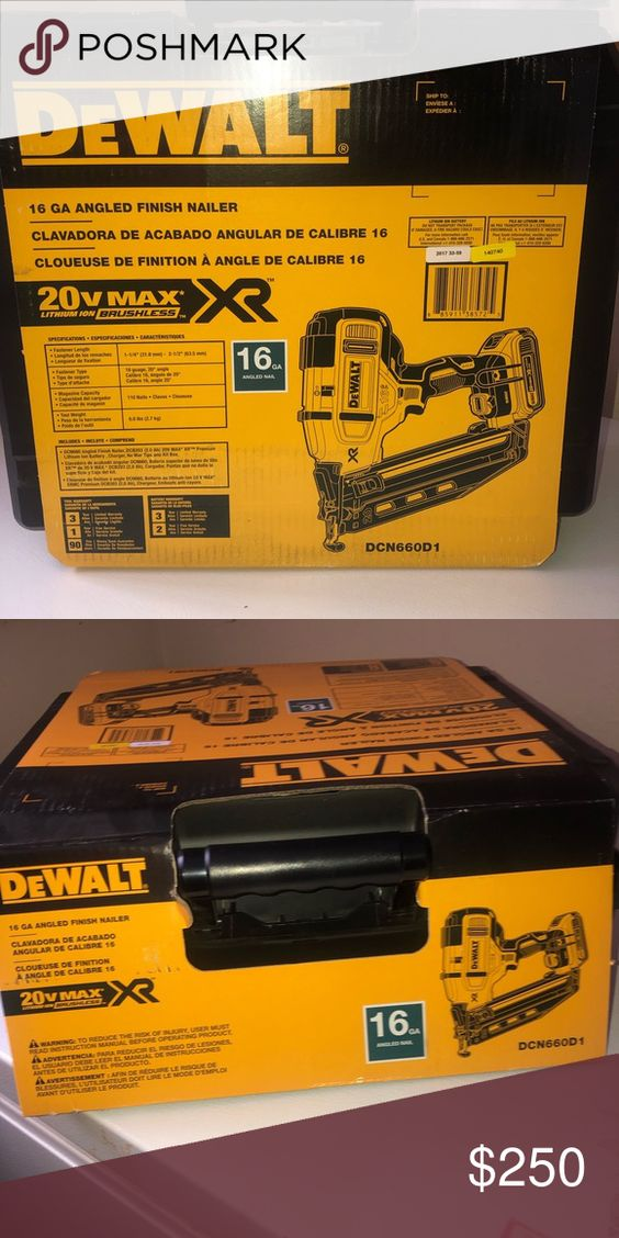 Dewalt The Dewalt Dcn660 16 Gauge Angled Finish Nailer Drives 16 Gauge Angled Finish Nails From 1 1 4 To 2 1 2 Which Make Dewalt Finish Nailer Things To Sell