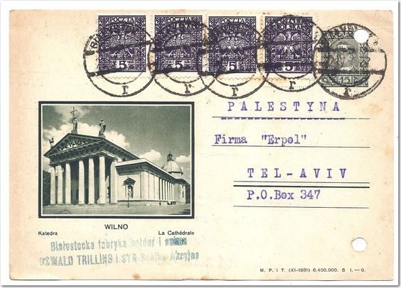 GERMANY GREECE POLAND 2 PCs AND 1 COVER ADDR TO PALESTINE... - bidStart (item 57012671 in Stamps... Germany DDR)