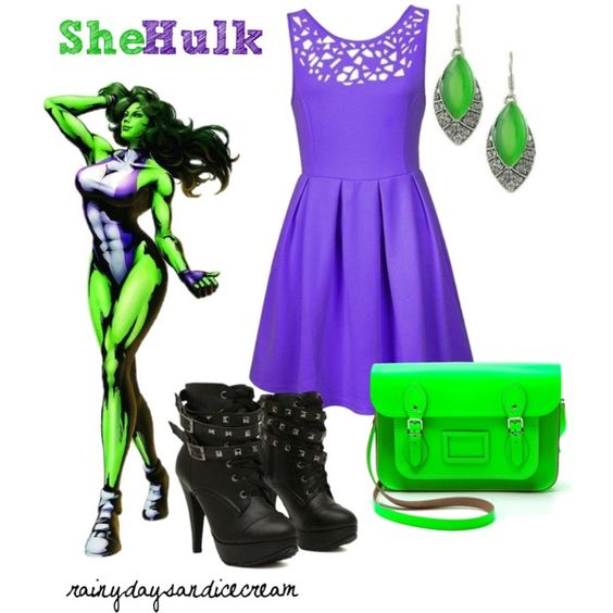 She-Hulk by rainydaysandicecream on Polyvore