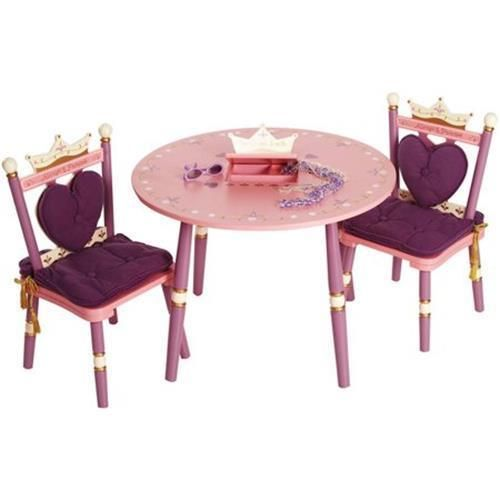 Princess Crown Table Chair Kids Children Playtime Plastic Furniture Home 2 Set Table And Chairs Chair Set Wooden Table And Chairs