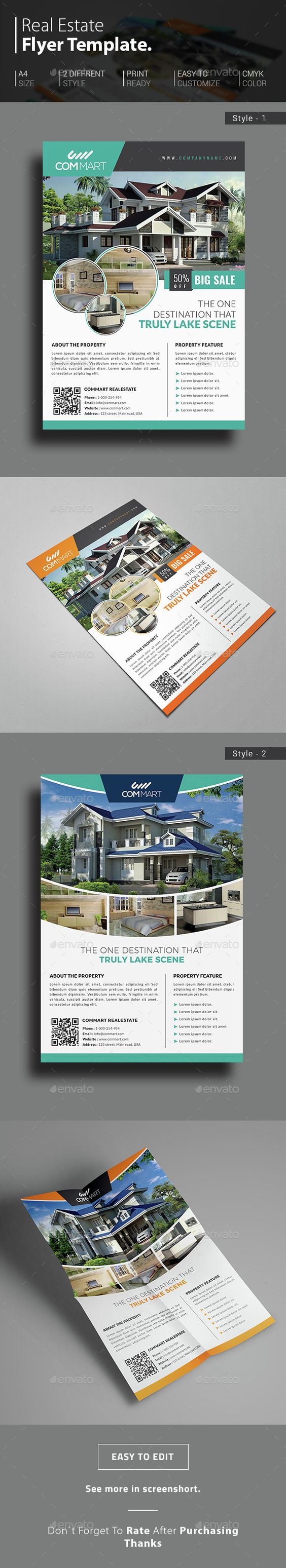 commercial real estate brochure template - ad design design templates and estate agents on pinterest