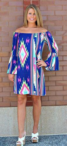 Neon Aztec *LONG* Tunic/Dress, $38.00