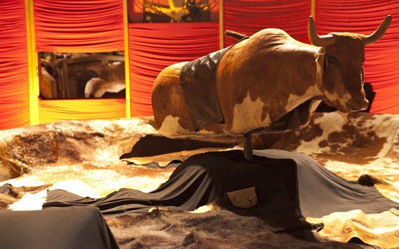 Será que os brothers vão levar muitos tombos no touro mecânico?