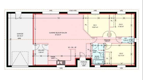 Modele Paradis Plan Maison Rectangulaire